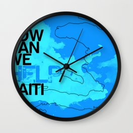Hope for Haiti. Wall Clock
