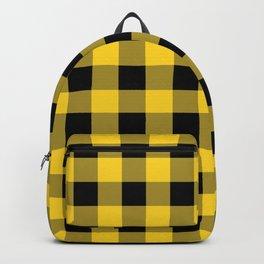 Yellow Buffalo Check Backpack