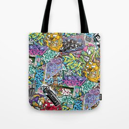 PAGER Collage Royal Stain Tote Bag