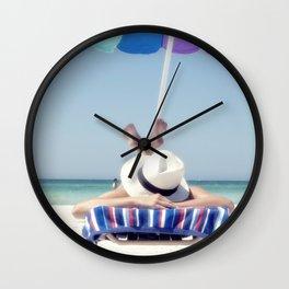 Holidays on the beach Wall Clock