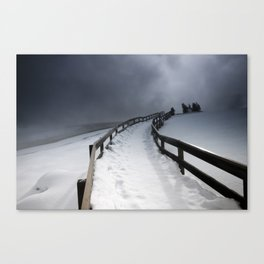 A Yellowstone Winter Canvas Print