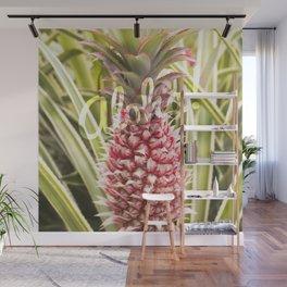 Pink Pineapple Aloha! Wall Mural