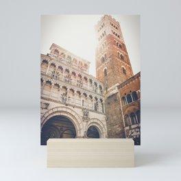 lucques Lucca cathedral san martino duomo Italy tuscany Mini Art Print