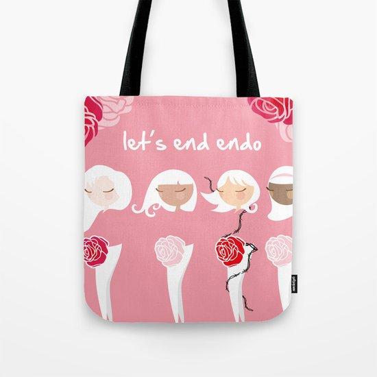 Let's End Endo Tote Bag