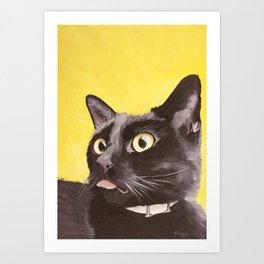 Cat Portrait #2 - Commissioner Gordon (2016) Art Print