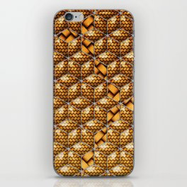 Cubes with wicker pattern iPhone Skin