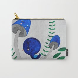 blue bird on a rainbow watercolor illustration Carry-All Pouch