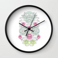 badger Wall Clocks featuring Badger by Randyotter