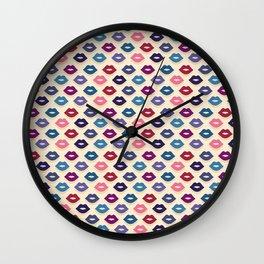 Retro Lips Pattern Wall Clock