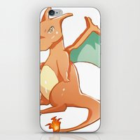 charizard iPhone & iPod Skins featuring Charizard by jimmy