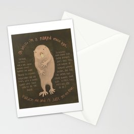 Naked Mole Rat Stationery Cards
