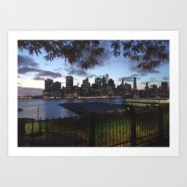New York Skyline View Art Print