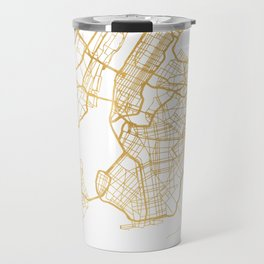 NEW YORK CITY NEW YORK CITY STREET MAP ART Travel Mug