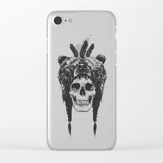 Dead shaman (b&w) Clear iPhone Case