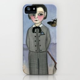 """""""Gideon and the Death's Head"""", A Victorian Foundling Portrait iPhone Case"""