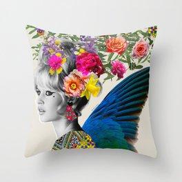 Brigitte flowers Throw Pillow