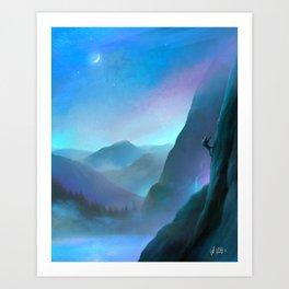 Life Mountain Climbing Art Print