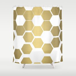 Bee Hives Flowers Shower Curtain