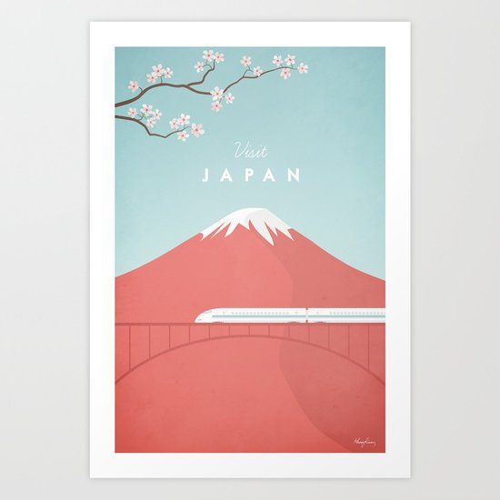 Vintage Japan Travel Poster by wetcake