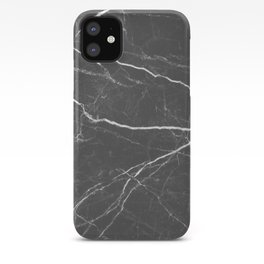 Gray marble abstract texture pattern iPhone Case