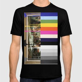 Garage Sale Painting of Peasants with Color Bars T-shirt