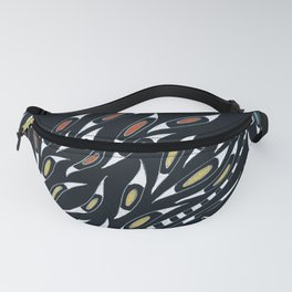 Doodle Abstract Funky Pattern Ink Fanny Pack