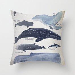 Mediterranean Cetaceans Throw Pillow