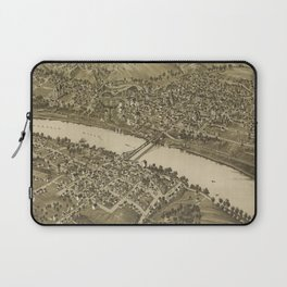 Vintage Pictorial Map of Fairmont WV (1897) Laptop Sleeve