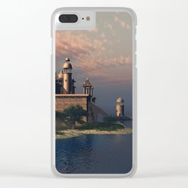 Beautiful Fantasy Town Clear iPhone Case