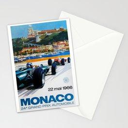 Gran Prix de Monaco, 1966, original vintage poster Stationery Cards