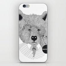 Morning bear iPhone & iPod Skin