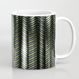 Alien Columns - Blue and Gold Coffee Mug