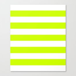 Volt - solid color - white stripes pattern Canvas Print