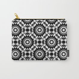 Monochrome, black and white pattern. Carry-All Pouch
