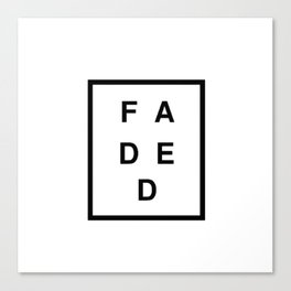 FADED SQUARED Canvas Print