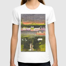 Radha and Krishna in the boat of love, 1755 T-shirt