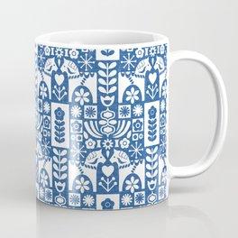 Swedish Folk Art - Blue Coffee Mug