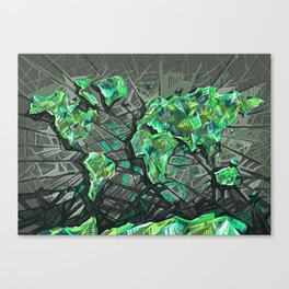 world map abstract 3 Canvas Print