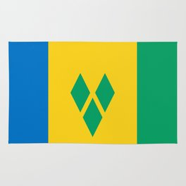 St. Vincent And The Grenadines Flag Rug
