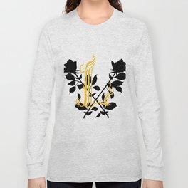 Locust Tattoo roses and L monogram by Sarah de Azevedo Long Sleeve T-shirt