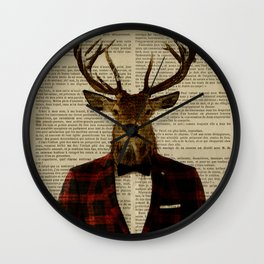 Lord Stag Wall Clock