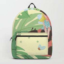 Girl On Ladybug Backpack