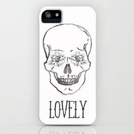 Lovely Flower Skull iPhone Case
