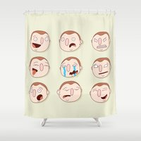 boys Shower Curtains featuring Boys by Pedro Vilas Boas