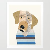 great dane Art Prints featuring great dane by bri.buckley