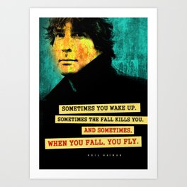 Neil Gaiman Quote Art Print