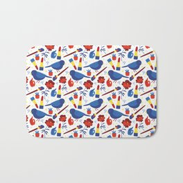Birds in Primary Bath Mat