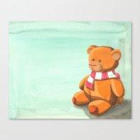 teddy bear Canvas Prints featuring Teddy by CMMart