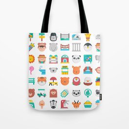 CUTE ZOO ANIMALS PATTERN Tote Bag