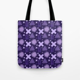 Ultra Violet Geometrix Tote Bag